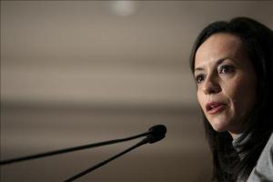 La ministra de Vivienda, Beatriz Corredor, durante su intervención en un acto organizado por el Fórum Europa en Madrid.
